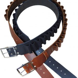12G & 20G Cartridge Belt – Heavy Weight Leather with a Boot Leather Retainer