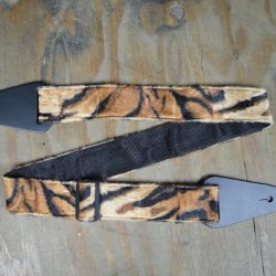 Black & Brown Lion Faux Fur Guitar Strap