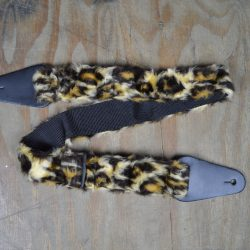 Brown Long Fur Guitar Strap Faux Fur Guitar Strap
