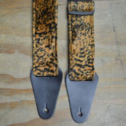 Brown with Black Spots Faux Fur Guitar Strap