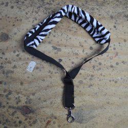 Black & White Zebra Faux Fur Saxophone Strap