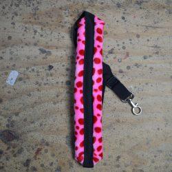 Pink Dot Faux Fur Saxophone Strap
