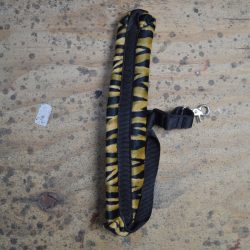 Black & Brown Zebra Faux Fur Saxophone Strap