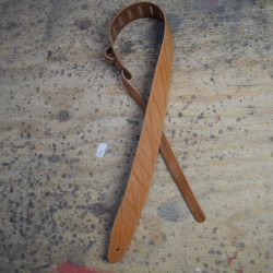 Tan 2.5″ Leather Guitar Strap