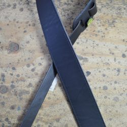 2.5″ Sueded Black Solid Hide Leather Guitar Strap