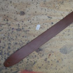 2.5″ Sueded Tan Solid Hide Leather Guitar Strap