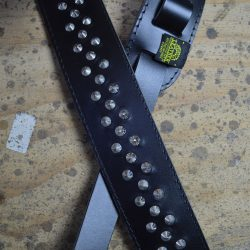 Black 2.5″ Leather Studded Guitar Strap