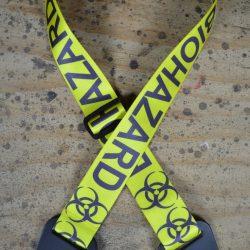 Bio Hazard Printed Webbing Guitar Strap