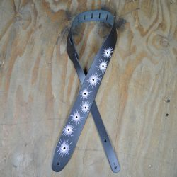 Bullet Holes Printed Leather Guitar Strap