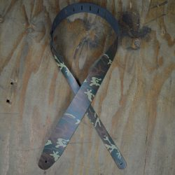 Camo Printed Leather Guitar Strap