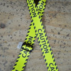 Caution Printed Webbing Guitar Strap