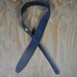 2.5″ Leather & Cotton Webbing Guitar Strap