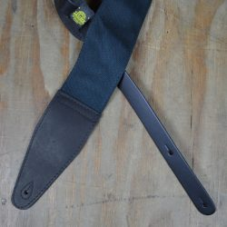 3.5″ Leather & Cotton Webbing Guitar Strap