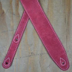 Burgundy Double Suede Guitar Strap