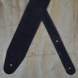 Black Double Suede Guitar Strap