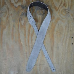 Grey Double Suede Guitar Strap