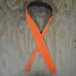 Orange Double Suede Guitar Strap