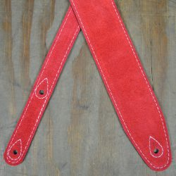 Red Double Sided Guitar Strap