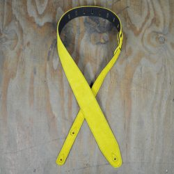 Yellow Double Suede Guitar Strap