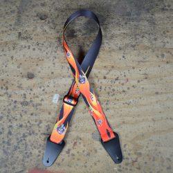 Flame & Skulls Printed Webbing Guitar Strap