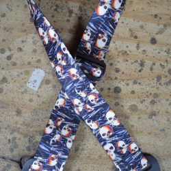 Floating Skulls Printed Webbing Guitar Strap