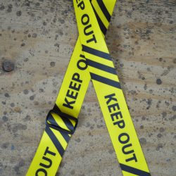 Keep Out Printed Webbing Guitar Strap