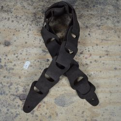 Brown Suede Link Leather Guitar Strap