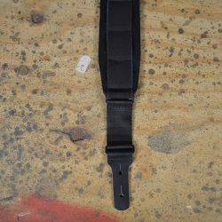 Black Neoprene Padded Long Guitar Strap