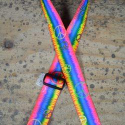Peace Rainbow Printed Webbing Guitar Strap