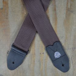 Brown Webbing Guitar Strap