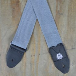 Grey Webbing Guitar Strap