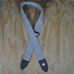 Grey Webbing Guitar Strap