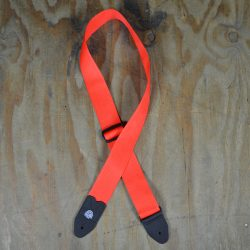 Red Webbing Guitar Strap