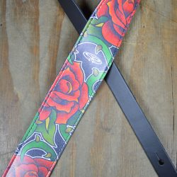 Roses Printed Microfiber Leather