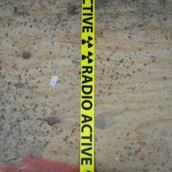 Radio Active Printed Webbing Guitar Strap