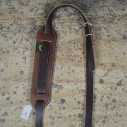 Brown Vintage Style Suede Backed Leather Guitar Strap