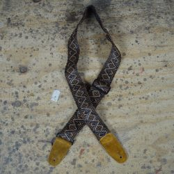 Brown Lacing & Suede Guitar Strap