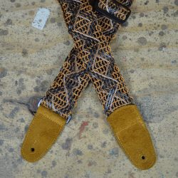 Tan Lacing & Suede Guitar Strap