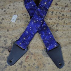 Stars Blue Silver  Rag Guitar Strap