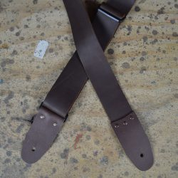 2″ Brown Soft Leather Slide Adjustable Guitar Strap