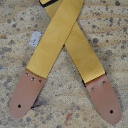 2″ Tan Soft Leather Slide Adjustable Guitar Strap