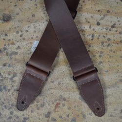 3″ Brown Soft Leather Slide Adjustable Guitar Strap