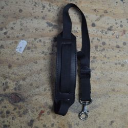 Black Webbing Saxophone Strap with Lambs Wool Pad