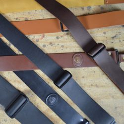 Slide Adjustable Leather Guitar Straps