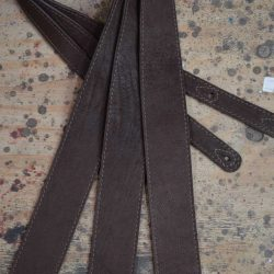 2.5″ Sueded Dark Brown Relic Soft Leather Guitar Strap