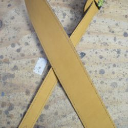 2.5″ Sueded Tan Soft Leather Guitar Strap