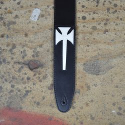 Cross Leather Inlay Strap
