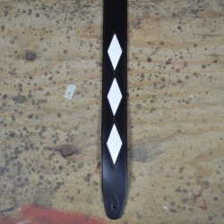 Diamond Pattern Leather Inlay Strap