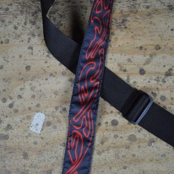 Celtic Red Tattoo Rag Guitar Strap