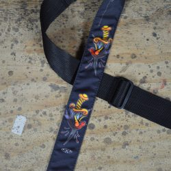 Dagger & Bird Tattoo Rag Guitar Strap